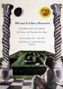 Gli influssi della Libera Muratoria nelle Arti Liberali del Veneto e del Trentino Alto Adige