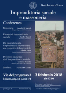 "Conferenza ""Imprenditoria sociale e Massoneria"""
