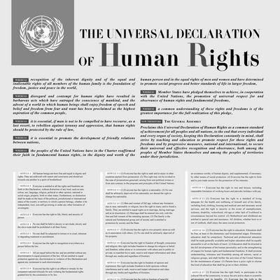 Dichiarazione Universale dei Diritti Umani. 1948-2018 Un evento nel Paese dimenticato
