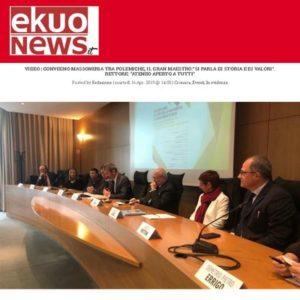 """EkuoNews - Convegno Massoneria tra polemiche, il Gran Maestro: """"Si parla di storia e di valori"""". Rettore: """"Ateneo aperto a tutti"""""""