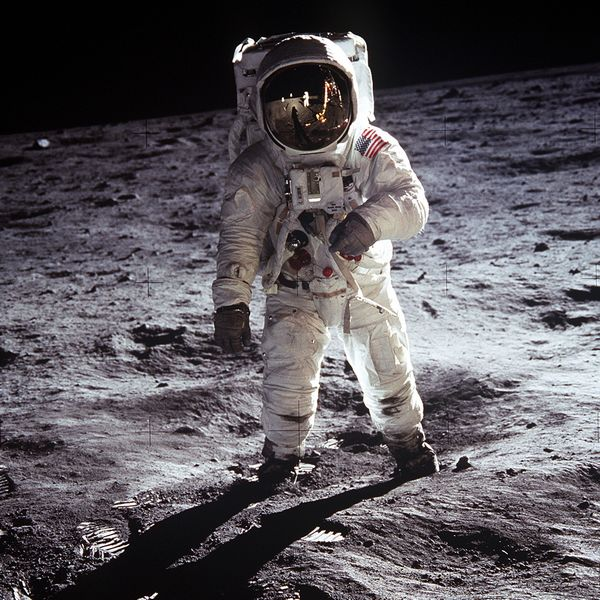 Buzz Aldrin sulla luna