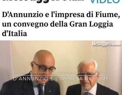 Messaggero Veneto – D'Annunzio e l'impresa di Fiume, un convegno della Gran Loggia d'Italia