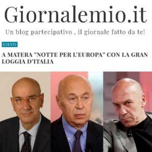 """Giornalemio.it - a matera """"Notte per l'Europa"""" con la Gran Loggia d'Italia"""