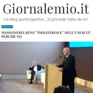 """Giornalemio.it - Massoneria bene """"immateriale"""" dell'UNESCO? Perché no"""