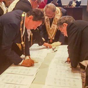 Firmata a Istanbul la Grande Carta Universale degli Alti Gradi Scozzesi