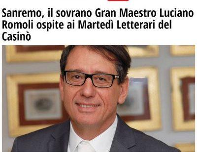 Riviera24.it – Sanremo, il sovrano Gran Maestro Luciano Romoli ospite ai Martedì Letterari del Casinò