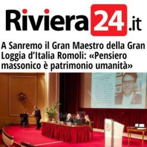 Riviera24.it - A Sanremo il Gran Maestro della Gran Loggia d'Italia Romoli: «Pensiero massonico è patrimonio umanità»