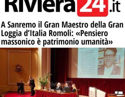 Riviera24.it – A Sanremo il Gran Maestro della Gran Loggia d'Italia Romoli: «Pensiero massonico è patrimonio umanità»