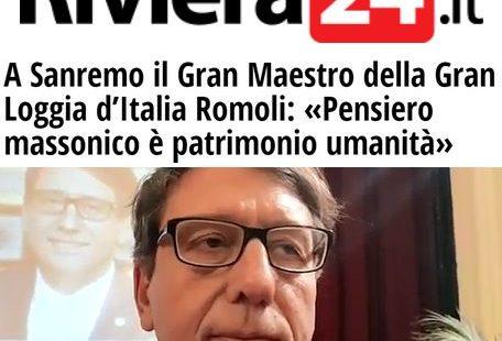 Riviera24.it – Intervista al Gran Maestro Luciano Romoli