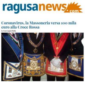 RagusaNews - Coronavirus, la Massoneria versa 100 mila euro alla Croce Rossa