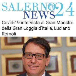SalernoNews24 - Covid-19: intervista al Gran Maestro della Gran Loggia d'Italia, Luciano Romoli