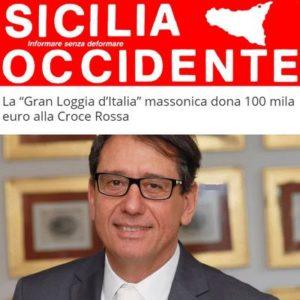 """Sicilia Occidente - La """"Gran Loggia d'Italia"""" massonica dona 100 mila euro alla Croce Rossa"""
