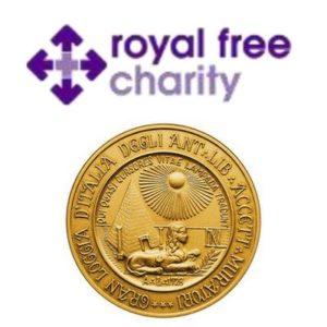 Donazione della G:.L:.d:.I:. di Londra al NHS Free Royal Society